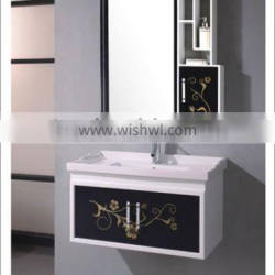 PVC Veneer Bathroom Vanity, Bathroom Furniture with mirror