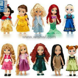 custom made 5inch lovely girl adorable plastic pvc figure doll toy for promotion
