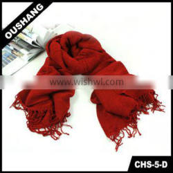 CHS-5-D Knitting Red Yarn Scarf knitted wrap