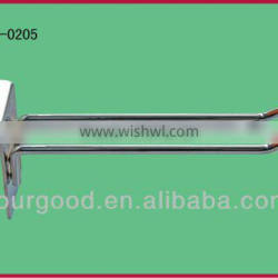 U shape chrome/ powder coating wire/metal slatwall hook