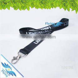 Stylish Polyester black lanyard with logo cutom, promotional tool lanyards with lobster claw