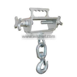 "Forklift Lifting Hook, Single Fork, Single Swivel Hook, 4000 lb., Fork Pocket Size 2-1/4"" H x 6-1/2"""