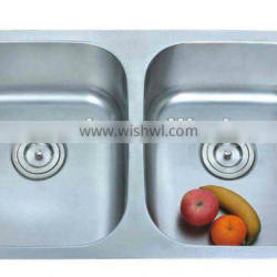 cUPC 304 stainless steel double bowl kitchen sink(8247)