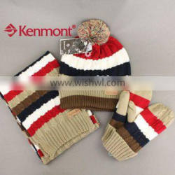 Fashion Accessories wool For Set Knitted Cap Scarf And Gloves