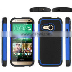 2015 New Universal sturdy and durable rugged ballistic shockproof defender cheap ballistic durable TPU case for HTC One M8 mini
