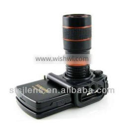 Optical 8X zoom lens for smart phone with universal tripod and holder