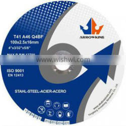 """4"""" 100x2.5x16mm Flat Resin Bonded Reinforced Cutting Wheel For Metal"""