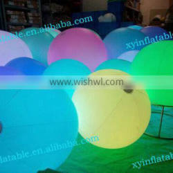 inflatable color changing RGB LED zygote ball for fun/zygote interactive ball