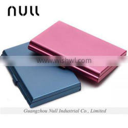 high promotion blue/ pink aluminum material business card cheap wholesale purse