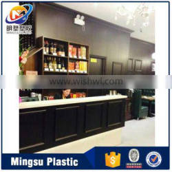 Building Material of 9mm cheap price pvc wall panel with beautiful designs for restaurant