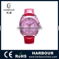 High Quality Stainless Steel Case Sapphire Crystal Slim Stone Quartz Watch 5ATM