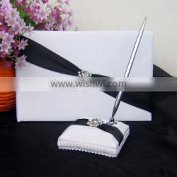 2015 Custom Wholesale Wedding Signature Guest Book ring bearer pillow and basket wedding decoration wedding guest gift
