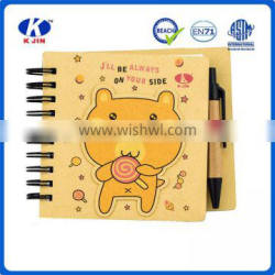 environmental protection series log color small custom memo notebook with pen