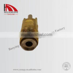 stainless steel pig water nipple in gold 64*22 mm