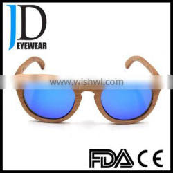 Hot Sell Natural Rose Wood sunglasses with metal hinges Wooden Sunglasses2016