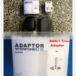 Hot sales Travel Universal Adapter with safety shutter Worldwide 125V 6A