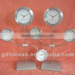 metal gift clock,weather station clock,thermometer & hygrometer