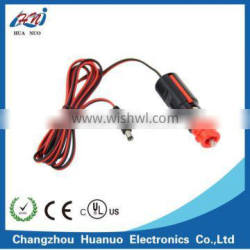 Red head Car cigarette lighter plug to DC plug5.5*2.1 with cable