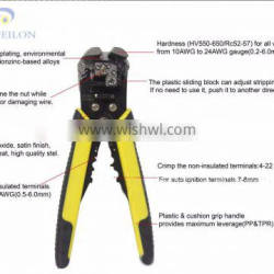 2016 no damaging of the conductor core Portable electrical multi-function wire stripper