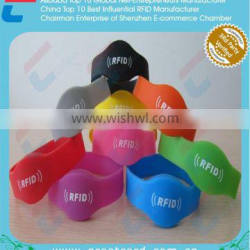 MIX color 125khz/13.56mhz/UHF silicone RFID wristband , RFID smart bracelet tag
