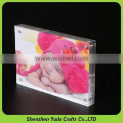 Acrylic 6x4 inch picture photo frame display magnetic perspex photo frame