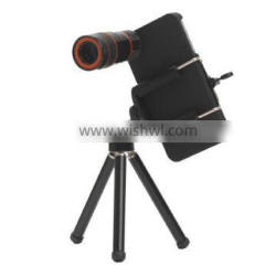 Optical 8X zoom telescope glass lens for mobile phone iphone 4 4s bar phone
