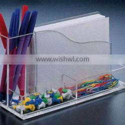 acrylic pen holder with notes box