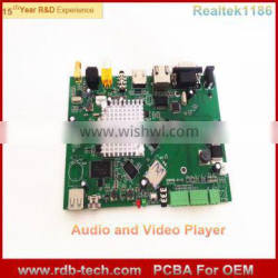 Shenzhen Factory Wholesale Digital Media Player PCBA PCB-07