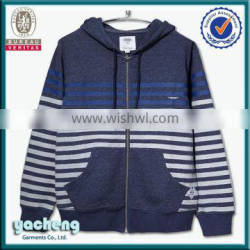 Custom Made stripe Hoodie / Sweatshirt, High Quality Custom solid color Sweartshirts / plain dyed Hoodie i