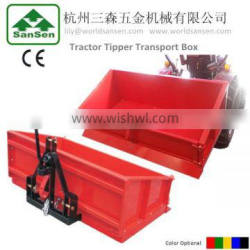 3 Point Tipper Transport Box ,Tractor carrier box with CE