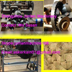 manual rice stalk straw rope weaving machine