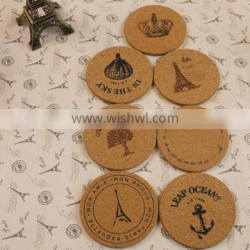 Freestyle Cork Coaster Home Decorations 7styles