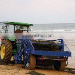 top quality new style hydraulic operating beach sand cleaner,beach sweeper ,beach cleaning machinery with bucket