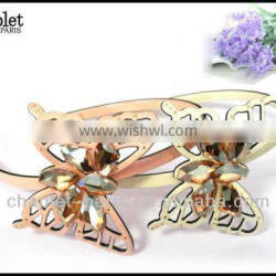 jewelry hair accessory , rhine stone luxury butterfly hairband for ladies, fancy hair hairband wholesale in china