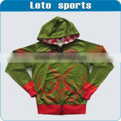 China manufacture custom dry fit hoodies with full zipper