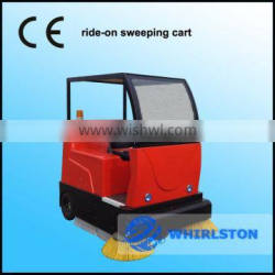 whirlston hot sale drivable street sweeping cart