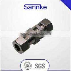 Chinese manufactory bulkhead union double Ferrule Fittings