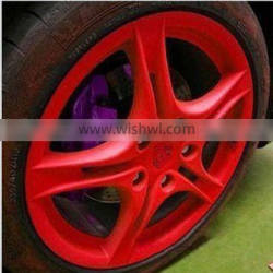 Red spray rubber paint for car wheels, high quality rubber paint spray