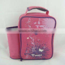 children thermal lunch bag with bottle holder