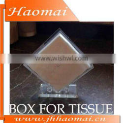 2013 Most Attractive Fashionable Design Clear Acrylic Tissue Box For Hotel And Coffee House Use Tissue Box