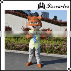 "Customized movie ""Zootopia"" walking costume, Nick fox macsot costume for adults"