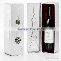 Customized designed metal wine tin box for packaging/storage/display