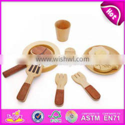 2017 New products children pretend play wooden cooking toys W10B179