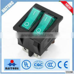 wholesale 10A/250V 6 pin double rocker switch with high qualidy