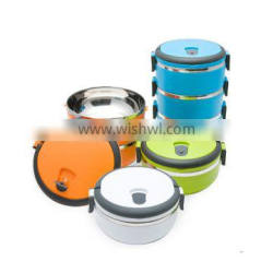 round stainless steel and PP material food container with competitive price
