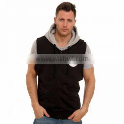 SLH-101044 80% Cotton 20% Polyester (fleece) Custom Sleeveless Hoodie