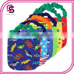 Summer new design fashion baby bib wholesale peice cotton soft baby bandana bibs for drooling teething