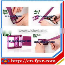 Newest simple fashion pure color silicone belt