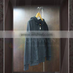 Wholesale High Quality with logo unisex Black zip up