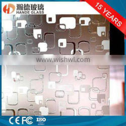 4mm deep acid etched /frosting decorative glass Quality Choice